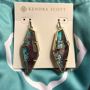 Kendra Scott Bexley Crackle Illusion earrings